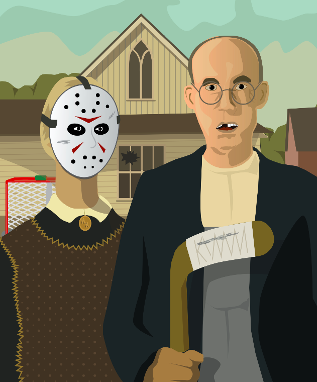 American Gothic Hockey Poster