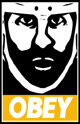 Obey Parody of Zdeno Chara and Andre the Giant Poster